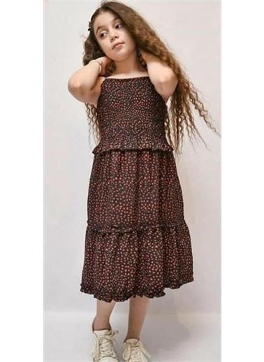 Riccotarz Kız Çocuk İp Askılı Çan Elbise Siyah